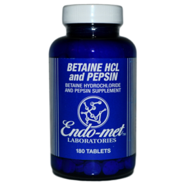 Betaine HCL and Pepsin, Endomet (UK EU) 180 tablets
